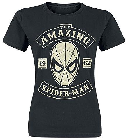 Spider-Man The Amazing Spider-Man T-shirt Femme noir XXL