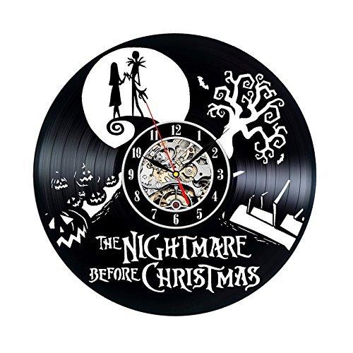 Nuovo! 3d the nightmare before christmas orologio da parete in vinile - decora la tua casa con l'arte moderna - regalo per bambini ragazze e ragazzi - vinci un premio per un feedback