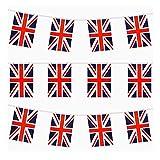 Cadena del Reino Unido con 32 Banderas para Banderas de Partido, Club y Otras Ocasiones Cadena de banderines Decor