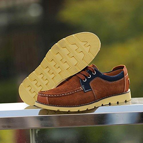 SONGYUNYAN Herren Outdoor Casual Boot Wildlederschuhe Light Brown