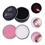 DUcare Make-up Pinsel Reinigungsset Seifenreiniger & Farbentfernungsschwamm (Kokosöl)