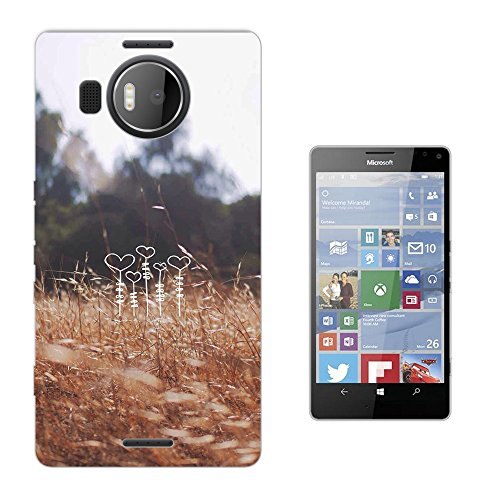 002895 - Love Hearts Floral Roses flowers Growing In The Field Farm Design Microsoft Nokia Lumia 950 XL Fashion Trend Silikon Hülle Schutzhülle Schutzcase Gel Rubber Silicone Hülle