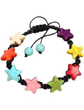 Yazilind Schmuck On Sale! Multicolor Howlith Türkis Cute Star Einstellbare Zucker Armband Trendy Gebet Mädchen...