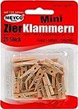 Wäscheklammern - Mini 25mm Holz 25St