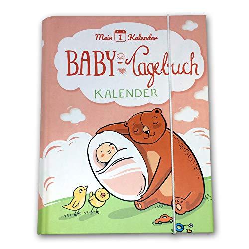 Mein 1. Kalender ® | das Babytagebuch | Entwicklungsberater | Geschenk zur Geburt | 365 Tipps und Tricks | Rosa | A5