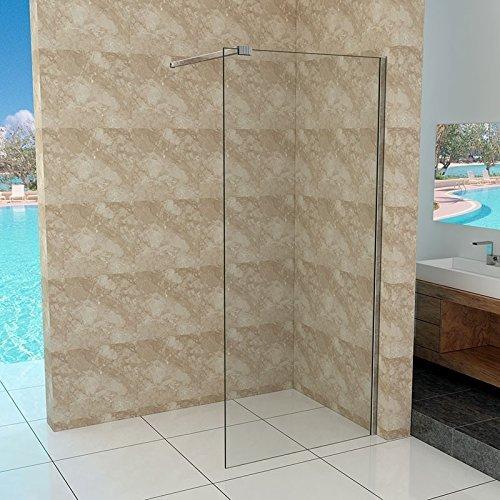 Preisvergleich Produktbild Walk-In Duschtrennwand 10mm ESG Glas 30-140 cm, Breite: 140cm