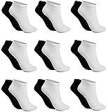 12 Paar Damen Sneaker Socken schwarz weiss Mix