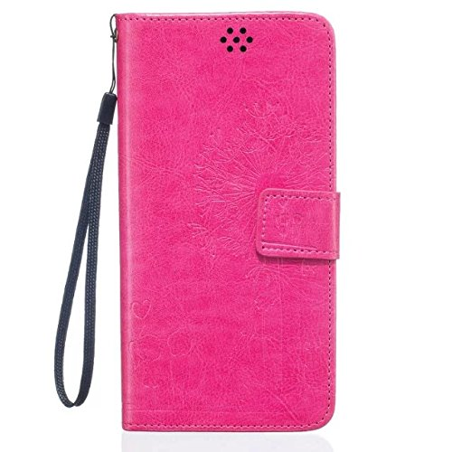 iPhone Case Cover IPhone 6 6S Case, de haute qualité Premium PU Housse en cuir Couverture Solid Dandelion Embossing Wallet Stand Housse pour iPhone 6 6S ( Color : Brown , Size : IPhone 6 6S ) Rose