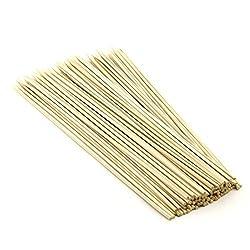 Okayji Bamboo Skewers / Kabab / Burger / Barbecue Sticks 8 inch (Pack of 70)