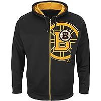 Majestic Boston Bruins Interference Full-Zip Hoodie NHL Sweatshirt