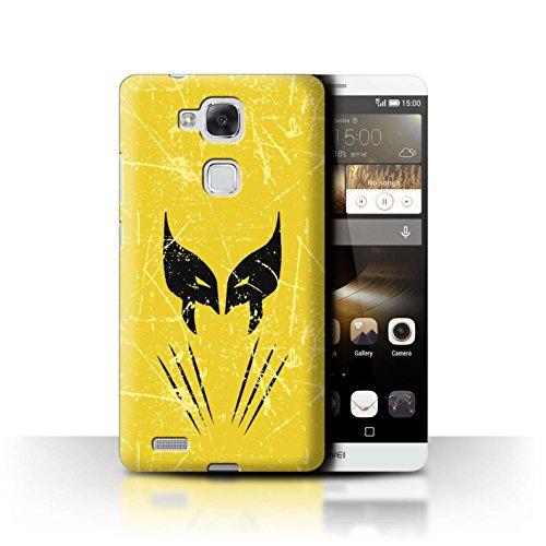 Stuff4® Hülle/Case für Huawei Ascend Mate7 / Wolverine Inspiriert Muster/Antiheld Comic-Kunst Kollektion