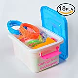 nanhong Roll outthe New 3d penna filamento Ricariche Storage Box Kit 6Glow in the Dark Colors 1.75mm PLA.18/36Colors