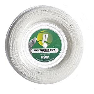 Prince Synthetic Gut with Duraflex 15l White Tennis String Reel Review 2018 by Prince Sports