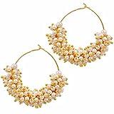 Maayra Copper Hoop Earring For Women (Wh...