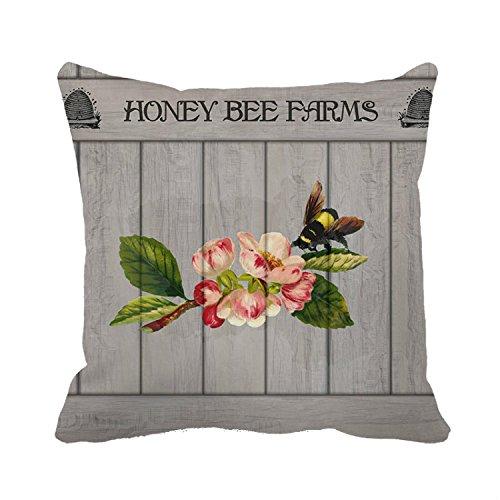 Dekoratives Kissen Fall mupai Bee Blossom Kissenbezug 45,7x 45,7cm -