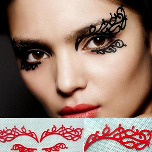 Papier Schneidende Blumen Augen Aufkleber, Sansee 1Pair Papier schneidende Blumen Augen Aufkleber Eyeliner Luxus Falsche Wimpern (Senden Sie das Produkt zufällig)