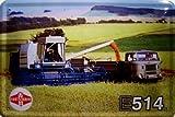 Mähdrescher Fortschritt E 514 und IFA W 50 LKW DDR Blechschild Schild Blech Metall Metal Tin Sign 20 x 30 cm