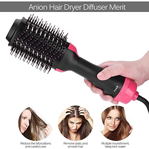 ale   Fön Volumizer Rotating Hot Hair Brush Lockenwickler Roller Drehen Styler Comb Styling Lockenstab Bügeleisen ()