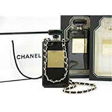 * *, nuovo Parfum Case Cover Per iPhone 5/5S in bianco. Con catena. Come Michael Kors, Chiara Ferragni