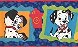 101 Dalmatians Disney Cartoon Tapete Bordüre – Schwarz, Weiß, Blau, Orange, Rot – Kinder Baby Zimmer, Rolle 15 'x 17,8 cm