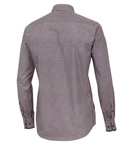 Casa Moda - Casual Fit - Herren Hemd mit modischem Druck, Langarm und aus 100% Baumwolle (462602800A) Rot (400)