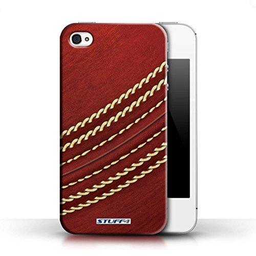 Coque en plastique pour Apple iPhone 4/4S Collection Balle Sportif - Football américain Cricket