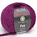 Austermann Wolle Fey Fb. 14 - Beere, Super Chunky Wolle mit 70% Schurwolle und 30% Alpaka