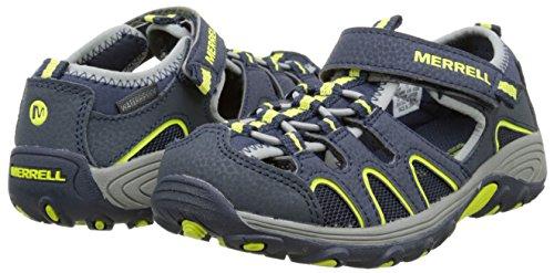 Merrell H20 Hiker Unisex-Kinder Outdoor Fitnessschuhe, Blau (Navy/Lime), 37 EU -