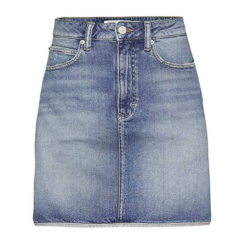 Calvin Klein Gonna Donna HR Mini Western Hem J20J208806 (29-911 Syracuse Blue) - Hem Mini Skirt