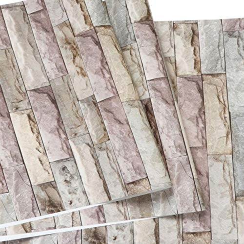 Lyx1,carta da parati nostalgic retro brick pattern wallpaper living room tv sfondo muro cafe restaurant