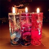 Velas de gelatina Sin Humo Conchas oceánicas Velas de gelatina Conjuntos para Navidad Regalos de San