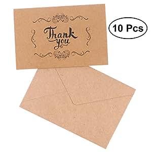 Luoem 100 Hochzeit Thank You Karten Vintage Papier Hochzeit Karte