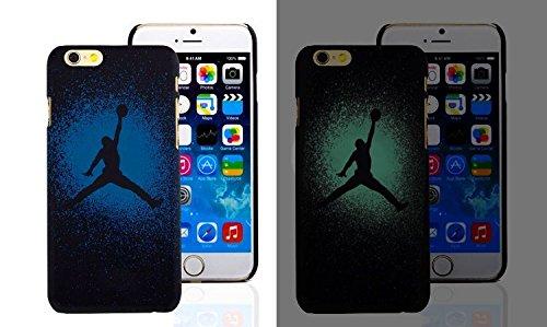 RONNEY'S Air Jordan Luminous PC BLACK Hard Case for Apple Iphone 7 & Iphone 8 DESIGN 12 Design 1