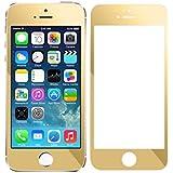 Tonsee Bunten Überzug gehärtetes Glas Schutzfolie für iPhone 5 5 s 5C (gold)