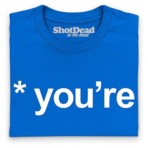 Your vs You're T-Shirt, Damen Royalblau