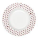 Feinkost Käfer GmbH 103152 Geschirr, Porzellan, Weiß/Rot, 23 x 23 x 4 cm, 1 Einheit