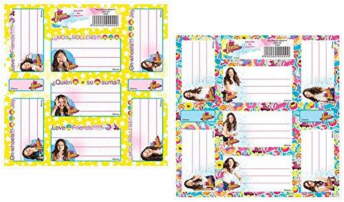 Disney 20 Bogen Set Soy Luna Stickerbogen Namenschild Sticker Mitgebsel -