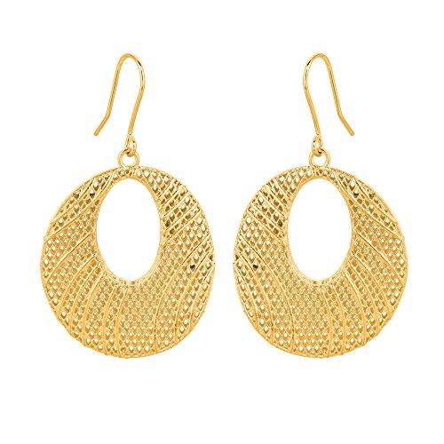 Trama a maglia ispirata-Orecchini pendenti In oro 14 (Maglia Degli Orecchini In Oro Orecchini)