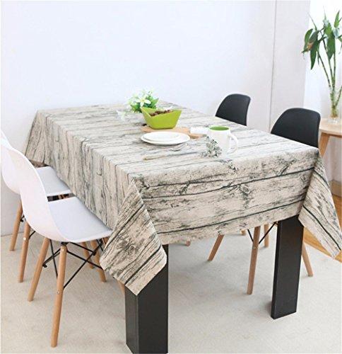 MOMO Korn-Baumwolltischdecke, die Pastorale rechteckige Tabellen-Leinen-Tischdecke speist,120x240cm (Baumwoll-mischungen Gitter-muster,)