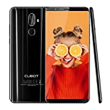 Cubot X18 Plus(2018) 4G LTE Smartphone 5,99 Zoll Handy ohne Vertrag 64GB ROM+4GB RAM Android 8.0,20MP+2.0MP Hauptkamera 13MP Frontkamera 4000 mAh Akku(5V/2A) 1.5GHz,Dual SIM GPS(Schwarz)
