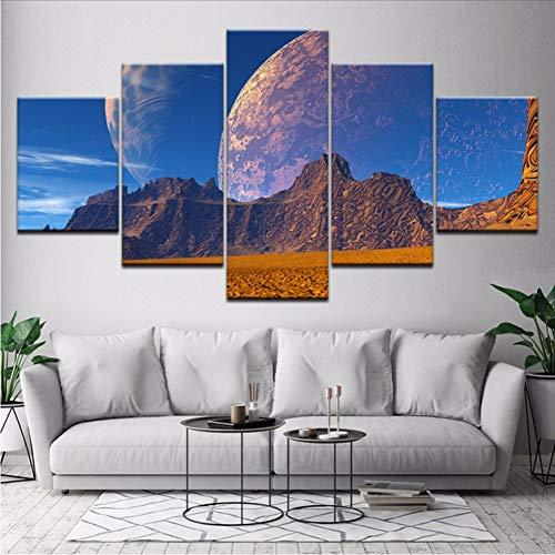 sshssh (Kein Rahmen) Leinwand Malerei Traum Kunst Landschaft 5 Stücke Wandkunst Malerei Modulare Tapeten Poster Print Für Wohnzimmer Wohnkultur -