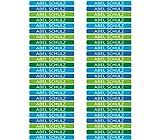 50 Etichette Adesive Mini Personalizzate per marcare matite e penne. Misura 4,2mm x 0,5mm. (Colore 5)