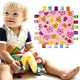 Baby Comforting Taggies Decke 26.5cmx26.5cm weicher Platz Plüsch Baby Appease Handtuch Sicherheitsdecke für 0-3 Jahre alt Babys