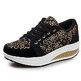 YUHUAWYH Scarpe da Donna Running Sneakers Outdoor Multisport (35, nero)