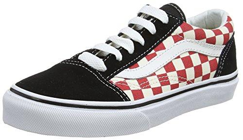 Vans Jungs Schuhe (Vans Unisex-Kinder Old Skool Sneaker, Mehrfarbig (Checkerboard), 27 EU)