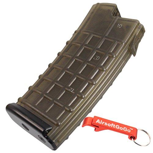 MAG 170rd AUG AEG Mid-Cap Magazin für Softair Marui, Jing Gong, King Arms, CA - AirsoftGoGo Schlüsselanhänger Inklusive