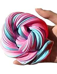 Fat. Chot coloré Fluffy Floam Slime Boue Safe parfumée doux Sludge DIY Argile soulager le stress de malaxage Jouets Party Games Cadeau pour enfants adultes, C, 170ml