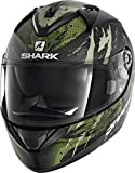 Shark Casco Moto RIDILL 1.2 THREEZY MAT KWG, Nero/Verde, L