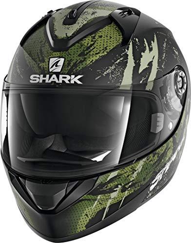 M Noir//Vert Motorcycle helmets Shark RIDILL 1.2 THREEZY MAT KWG