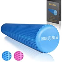 High Pulse Pilates Rolle inkl. Gratis-Übungsposter – Die multifunktionale Schaumstoffrolle eignet sich ideal für Muskelkräftigung, Fitness und Massage der Faszien